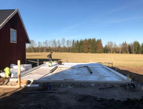 Grundläggning för garage i Dörarp